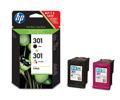 Zestaw atramentowych wkładów drukujących HP 301 Combo